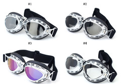 Free shipping 20pcs lot Korean-style motorcycle goggles Harley silver plated frame can be revent wind rain protect eye well T03