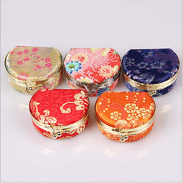 jewelry display box,Chinese traditional gift box mixed color, silk box with mirror sold per bag of 10 pcs
