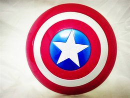 Wholesale 32CM The Second Edition Avengers Alliance J G Chen The Avengers Captain America Shield Cosplay Property Toy Plastic Escudo
