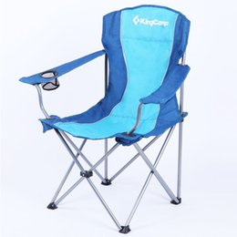 Wholesale Portable Folding Oxford ARMS CHAIR IN STEEL Outdoor Camping Fishing Chair Blue Red Green