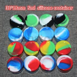 Wholesale Nonstick ml Silicon container Wax Containers silicone box Non stick food grade wax jars dab storage jar oil holder vaporizer vape free DHL