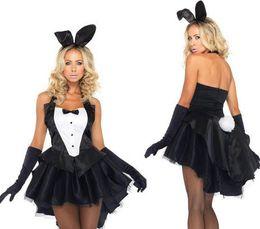 Wholesale Sexy Bunny Lingerie Cosplay - cosplay Christmas costumes halloween women Xmas sexy lingerie Dovetail pole dance bunny fantasias Rabbit girl eroticas uniform nightclub