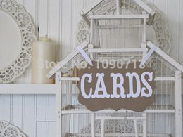 Wholesale-Free Shipping 1 Set New Arrival Chic Wedding Photo Prop CARDS Sign Hanging Bunting Garlands