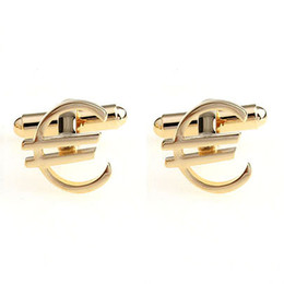 Gold Dollar,Euro Cufflinks French Cufflink Money Shape Sleeve Nail