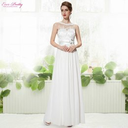 Long Evening Dresses Sleeveless White Ever pretty HE08189WH Special Occasion Dresses