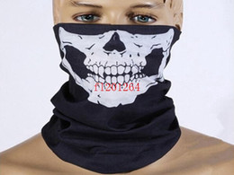 50pcs lot DHL Free shipping Skull Design Multi Function Bandana Ski Sport Motorcycle Biker Scarf Face Masks