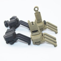Wholesale Vector Optics Tactical AR15 M4 Front and Rear Offset Degree Flip Up Iron Sight for Rapid Transition Full Metal Folding Sights BK DE