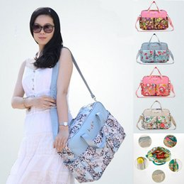 Wholesale 1601 Fashion MultiColored Tote Nappy Bags Cross body Multifunctional Mummy Bags Maternity Shoulder Diaper Bags Dollar Price Baby Bag