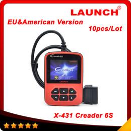 Wholesale Launch Creader S obd2 obd ii code reader scanner X Creader VI pLus European American version Multi language DHL free