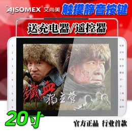 Wholesale AISOMEX S26 inch TFT HD Screen Portable Older Theater Playing Machine Singing Microphone Square Dance TV DVD FM Touch Key