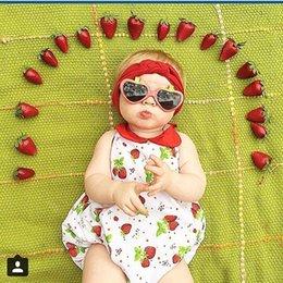 Wholesale NEW ARRIVAL baby girl kids infant toddler strawberry leopard lace romper onesies jumpsuits bodysuits strap jumper Lace Camisole Leotard vest