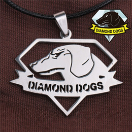 2017 l'action de guerre Metal Gear Solid V The Phantom Pain Dog of War Logo Collier Metal Dog Tag Pendant DIAMOND DOGS Collier l'action de guerre ventes