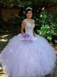 Luxury Ball Gown Quinceanera Dresses 2019 Sexy Sheer Beading Ruffles Tulle Sweetheart Sweep Train Custom Made Sweet 16 Party Prom Dresses