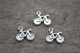 Wholesale 30pcs Bicycle Charms Antique Tibetan Silver Lovely Bike Charm Pendant x15mm