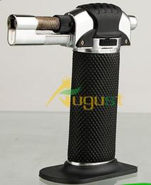Wholesale 1200 C Metal Melting Butane Jet Torch lighter Portable brazing soldering adjustable Cigarette Cigar Lighter jet welding torch lighter
