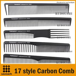 Wholesale Style Carbon Anti Static comb Fine Cutting Grip Comb Winding Tail Comb