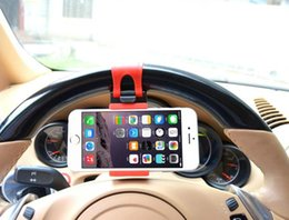 Promotion volant pour les vélos Universal Car Steering Wheel Mobile Phone Cradle Holder Clip Car / Bike Mount pour iPhone 6 plus 5S 4 4S