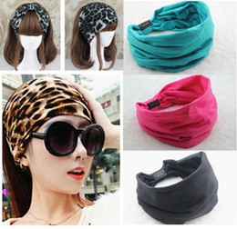 Wholesale 2015 New variety of wear method Cotton Elastic Sports Wide Headbands for women hair accessories turban headband