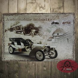 Wholesale Automobile industry Bar Dining Room Wall Art Vintage style Retro wall art car sign decoration