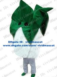 Wholesale Pretty Green White Cabbage Pak Choi Green Vegetable Meat Cole Oilseed Rape Mascot Costume Gray Thin Legs Green Shoes No FS