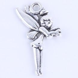 New fashion silver copper retro fairy Pendant Manufacture DIY jewelry pendant fit Necklace or Bracelets charm 200pcs lot 5403w