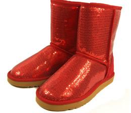 2016 new Australia Classic Short Sparkles Snow Boots lady Handmade Glitter Sequins decoration Plush Winter women's Shoes boot.#555
