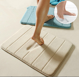 Wholesale New Arrive High Quality Slow rebound memory foam mats waste absorbing slip resistant bath mat coral fleece mat doormat carpet