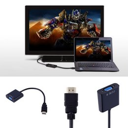 Mini HDMI To VGA Converter Adapter With Audio Cable For Laptop PC DVD TV Brand New