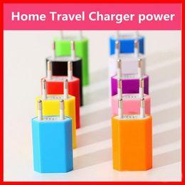 Wholesale EU Plug USB phone Charger Travel Adapter AC Power European regulatory charger V mAh DHL free