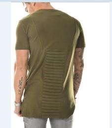 mens t shirts fashion tshirt homme men army green t shirt swag clothes hip hop t-shirt streetwear biker tees Fold style 123