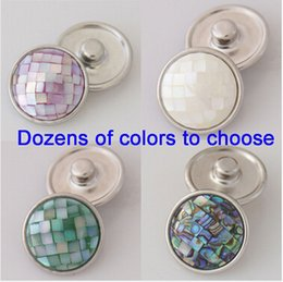 Wholesale 15 off OEM high quality changeable dozen of colors mm shell snaps button Bracelet fit ginger snaps jewelry drop shipping colors