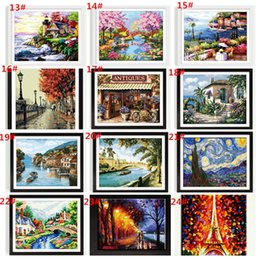 Wholesale Frameless Digital oil painting diy x50 paint by number kits acrylic painting paint by number