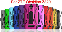 2016 hot sale Newest Durable 3 in 1 Case With Clip Shockproof Cell Phone Case TPU+PC For ZTE Obsidian Z820