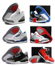 Wholesale 2016 High Quality Retro men basketball shoes wolf grey sport blue Black Cement White True Blue Dark Powder Blue Sneakers Athletics Boots