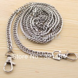 20pcs Dull Silver Metal 8mm and 120cm with Swivel Clasp Packge Handbag Bag Chain Wallet Chain Handle Findings Accessories