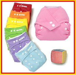 Wholesale - 100% Cotton Adjustable & Washable Baby Cloth Diapers Reusable Baby Cloth Nappy with free worldwide shipping!