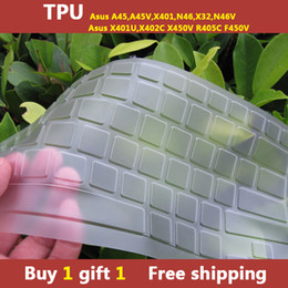 Wholesale TPU laptop Keyboard cover skin protector for asus A45 A45V X401 N46 X32 N46V X401U X402C X450V R405C F450V buy one gift one