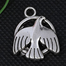 Vintage Silver Round Dove Peace Charms Pendants For Woman Bracelets Necklace Fashion Jewelry Making DIY Accessories NEW 100pcs S408