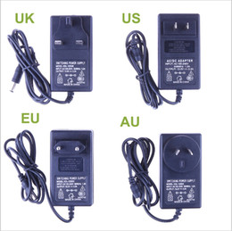 New 12V 2A Power Supply Adapter For RGB Led Strip AC85-265V to 12V EU US AU UK Cord Plug LED Strips Transformer