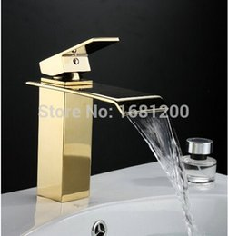 Wholesale quot European Style Waterfall Faucet Bathroom Mixer Tap Refined Copper Manufacture WF K