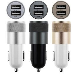 High Quality Phone Fast Quick Charging Alloy Aluminum Metal 3.1A Dual 2 USB In Car Charger 2 Way Car Cigarette Lighter Power Socket Adapter