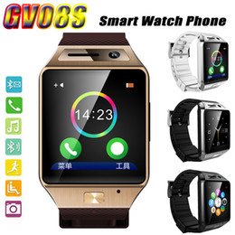 Wholesale Luxury smart watch phone GV08S quot OGS MP camear android watch CE FCC ROHS anti lost smartwatch music play bluetooth watch