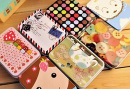 Wholesale Storage tin candy tin box vintage European memory series quality iron case storage case mixcolor p l