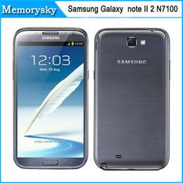 New Unlocked Original Mobile Phone Samsung Galaxy note II 2 N7100 Android 4.1 8MP Camera Quad-Core 2GB RAM 16GB ROM DHL free shipping 002836