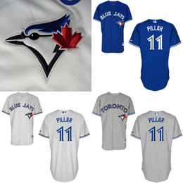 Wholesale Kevin Pillar Jersey Toronto Blue Jays Blue White Grey Jerseys Cheap Baseball Jerseys Home Road Authentic Stittched Jersey Shirt