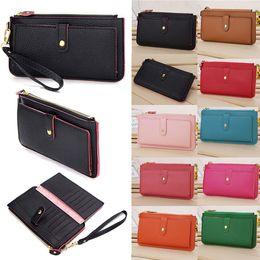 Wholesale Hot Selling Women Lady PU Leather Zipper Coin Money Card Holders Long Wallet Clutch Purse Handbag BX129