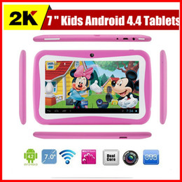 Wholesale Cheapest Kids Tablets inch Android kids tablet pc RK3126 Quad core Bluetooth MB RAM GB ROM Kids Games Apps Best gifts for kids