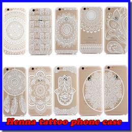 Wholesale Henna White Floral Paisley Flower Mandala Elephant Dream Catcher PC Back phone Case Cover For iPhone Plus Samsung