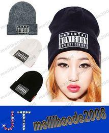 Wholesale Hot Sale Parental Advisory Explicit Lyrics Beanies SKULL CAP HIP HOP Hat men Women Wool Cap Fashionable Winter Hat MYY14970