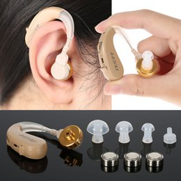 Behind Ear Sound Amplifier High-Low Tone Hearing Aid With UV Anti Bacteria Box Kit With Cleaning Brush Earplugs